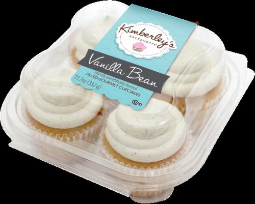 Kimberley's Bakeshoppe Vanilla Bean Filled Gourmet Cupcakes Perspective: front