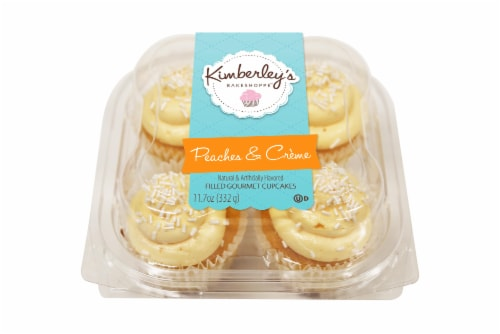 Kimberley's Bakeshoppe Peaches & Creme Gourmet Cupcakes Perspective: front