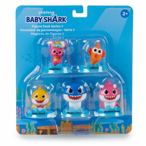 Pinkfong Baby Shark Bath Squirt Toy Figure Pack Perspective: front