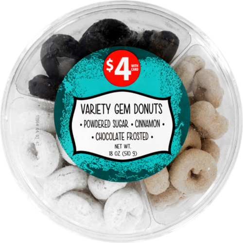 Variety Gem Donuts Party Tray Perspective: front