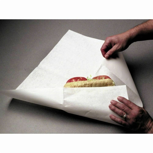 Atlas 1418 14 x 18 in. White Dry Wax Sheets Perspective: front