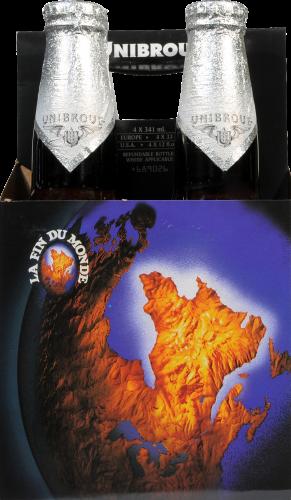 Unibroue La Fin Du Monde Beer Perspective: front