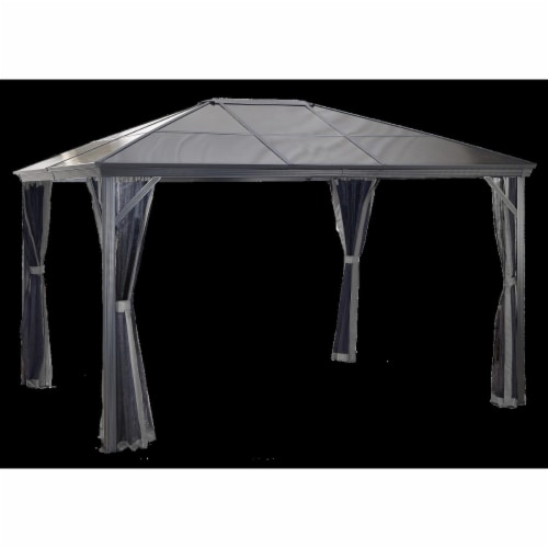 Sojag 314-9160734 10 x 14 ft. Verona No.77 Gazebo Polycarbonate Roof - 6 mm Perspective: front