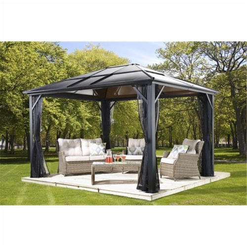 Sojag 500-9162936 10 x 12 ft. Meridien No.77 Gazebo Polycarbonate Roof - 8 mm Perspective: front