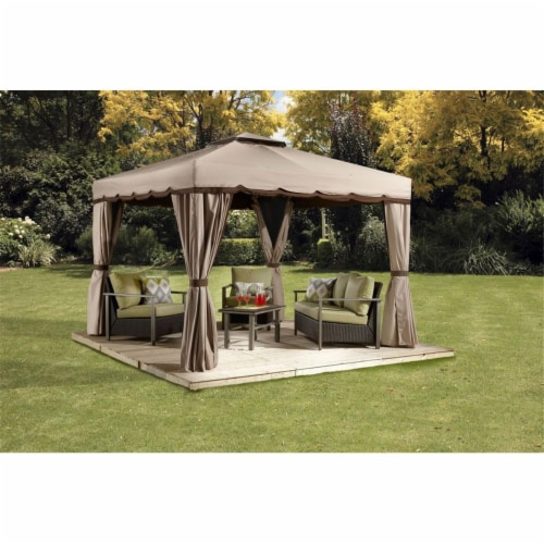 Sojag 500-9165388 10 x 10 ft. Roma No.53 Gazebo Roof - Polyester Perspective: front