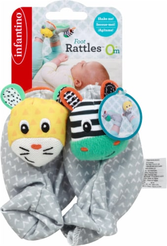 Infantino Foot Rattles Infant Booties - Multi-Color Perspective: front