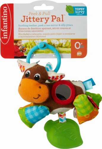 Infantino Peek & Pull Jittery Pal Infant Toy Perspective: front