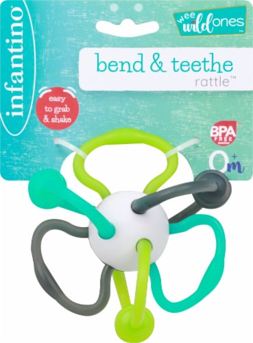 Infantino Bend and Teethe Rattle Toy Perspective: front