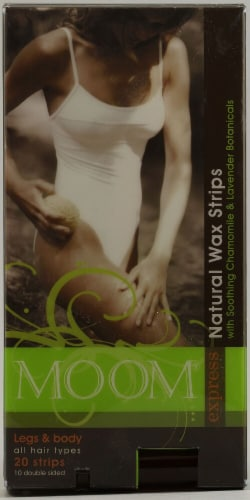 Moom  Express Pre Wax Strips For Legs And Body Perspective: front