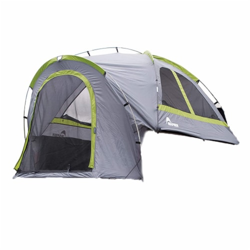 Napier 19 Series Backroadz Full Size Regular Bed 2 Person Truck Tent, Gray/Green Perspective: front