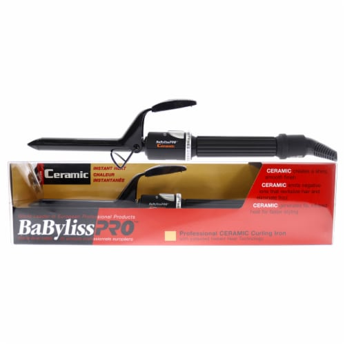 Babyliss PRO Professional Ceramic Curling Iron - BABC58SC - Black Perspective: front