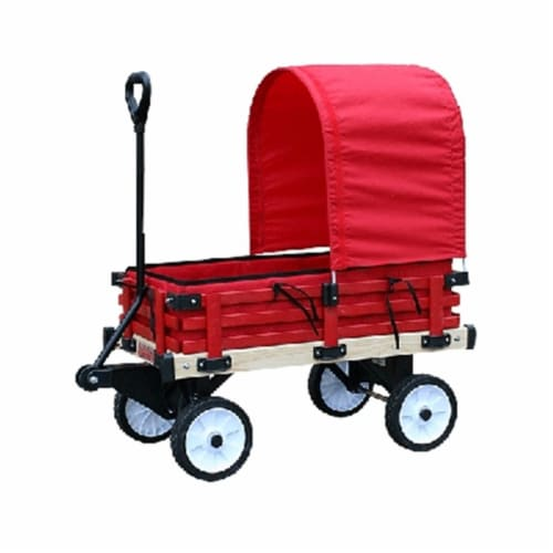 Millside Industries 04769 16 in. x 36 in. Wooden Covered Wagon with Pads Perspective: front