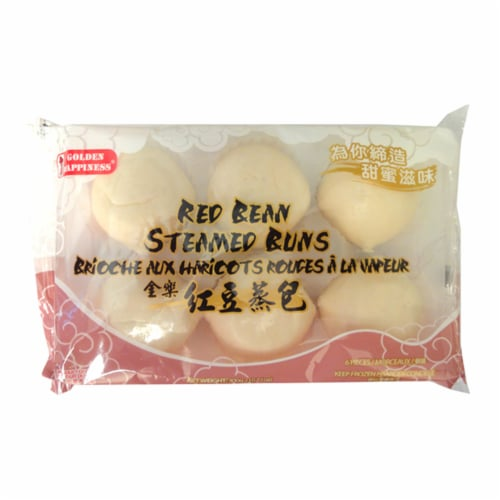 Golden Happiness Red Bean Steamed Buns Perspective: front
