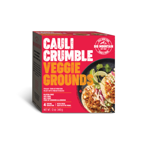 Big Mountain Foods Cauli Crumble Veggie Grounds Perspective: front
