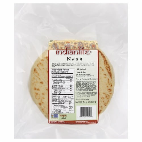 Indian Life Authentic Naan Perspective: front