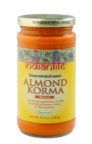Indian Life Vegetarian Medium Almond Korma Sauce Perspective: front