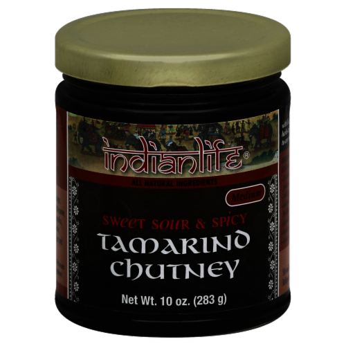 Indian Life Sweet Sour and Spicy Medium Tamarino Chutney Perspective: front