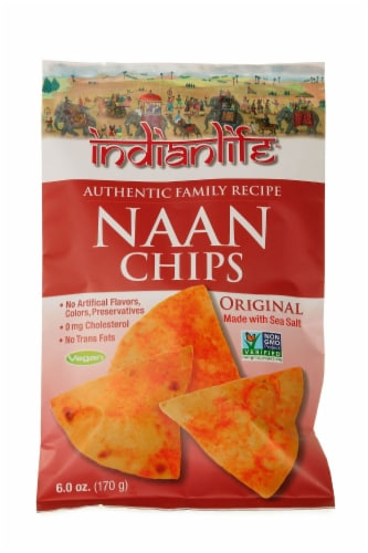 Indian Life Naan Chips Perspective: front