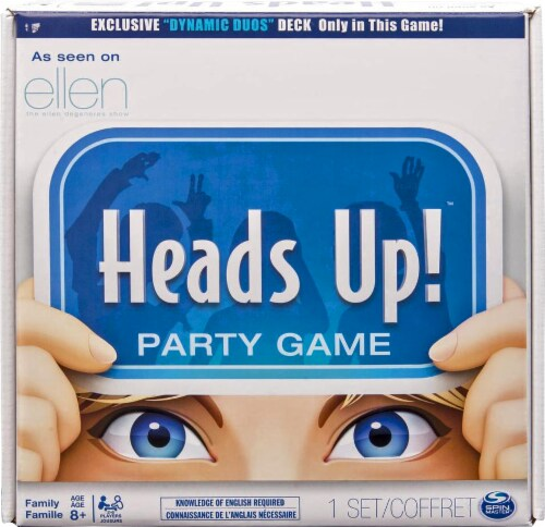 Spin Master Heads Up! Party Game Perspective: front