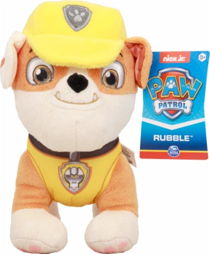 Paw Patrol Rubble Plush Dog Perspective: front