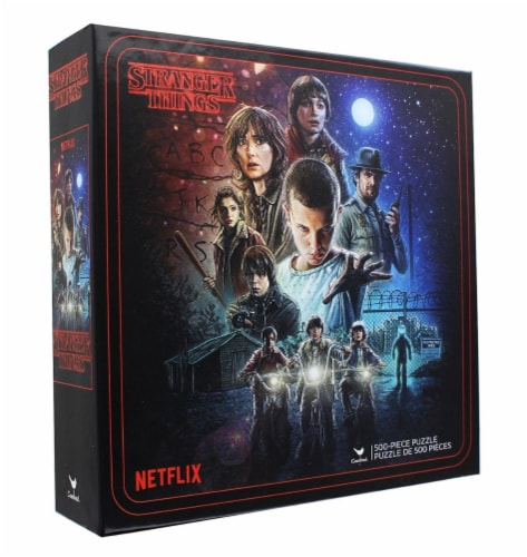 Cardinal® Stranger Things Characters 500-Piece Jigsaw Puzzle Perspective: front
