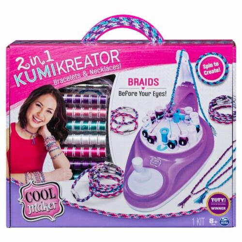 Spin Master 2 in 1 KumiKreator Bracelet Maker Kit Perspective: front
