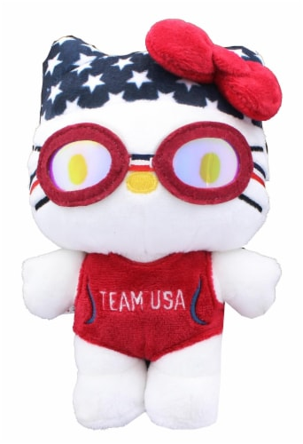 Hello Kitty Olympic Swimmer 6 Inch Collectible Plush Perspective: front