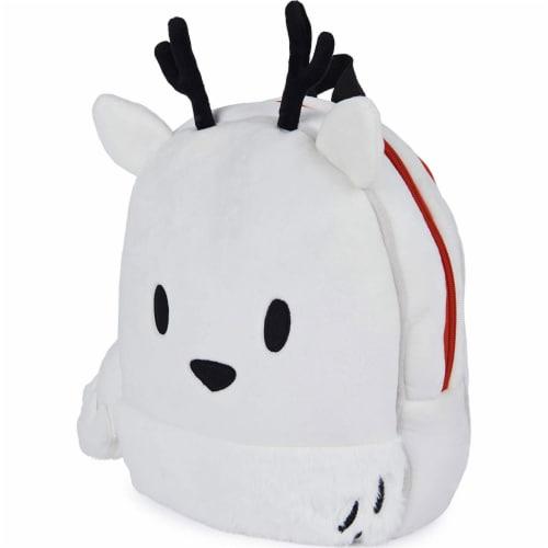 GUND 13 Inch Hilda Twig Soft Plush Kids Stuffed Animal School Backpack, White Perspective: front