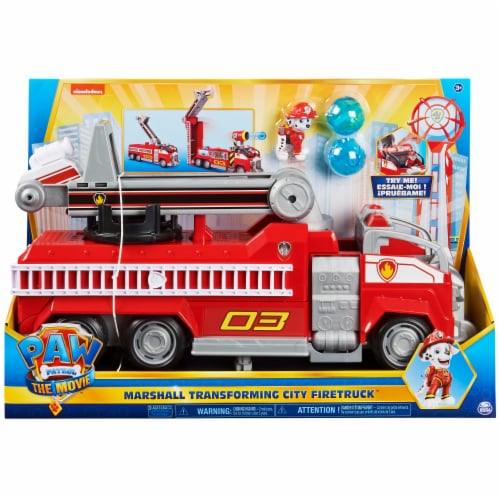 Paw Patrol Marshall Transforming City Firetruck Perspective: front
