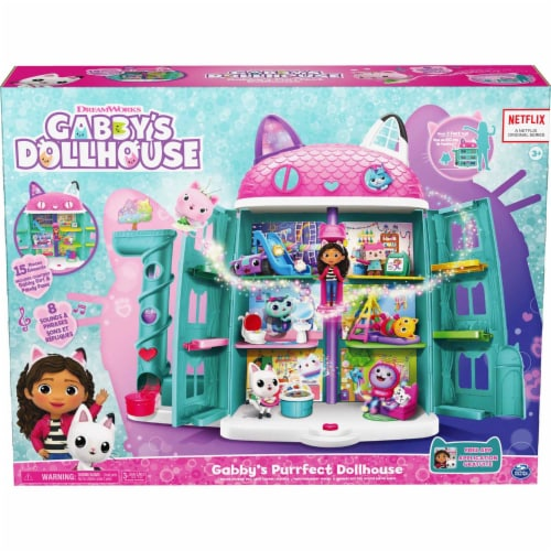 Spin Master Gabby's Dollhouse Gabby's Purrfect Dollhouse Playset Perspective: front