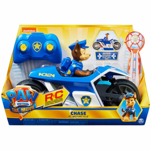 Paw Patrol Chase RC Motorcycle Perspective: front