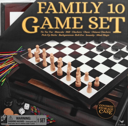 Cardinal Games Family 10 Game Set Perspective: front