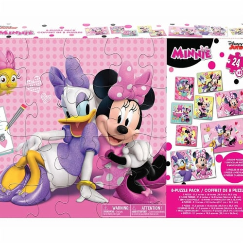 Cardinal® 30373040 Disney Minnie Mouse GIANT 8 Puzzle Pack Perspective: front