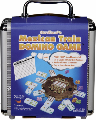 Cardinal Games Mexican Train Domino Game Perspective: front