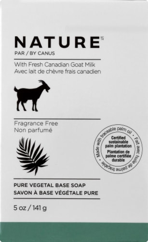 Nature By Canus Pure Vegetable Goat Milk Soap Perspective: front