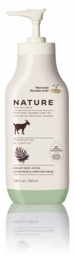 Nature By Canus Fragrance Free Goats Milk Creamy Body Lotion Perspective: front
