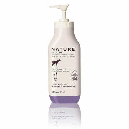 Nature By Canus Lavender Oil Goat Milk Creamy Body Lotion Perspective: front
