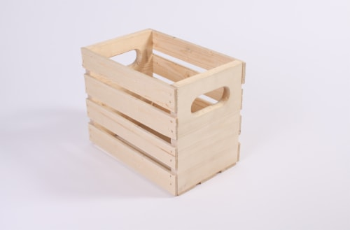 Pine Wood Wine Storage Crate Perspective: front