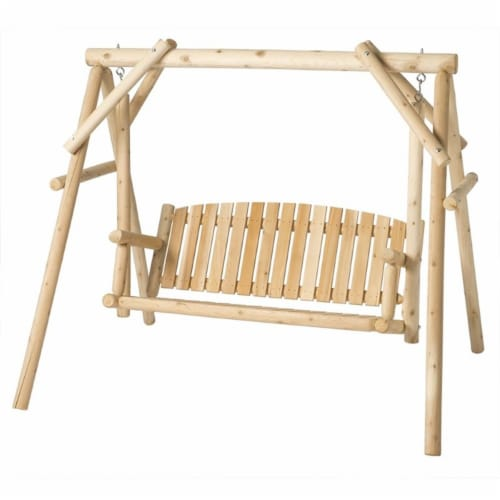 Bestar White Cedar 5' Swing in Natural Perspective: front