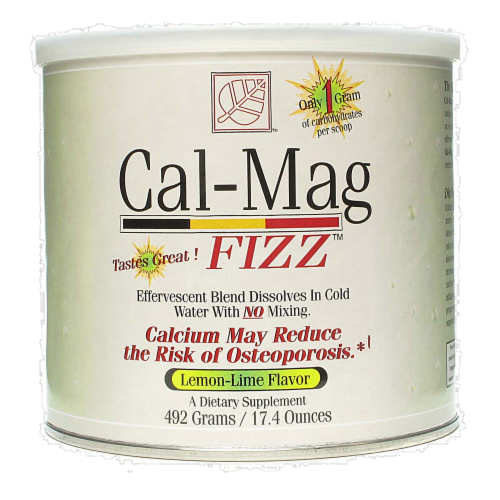 Cal-Mag Fizz Lemon Lime Flavor Dietary Supplement Perspective: front