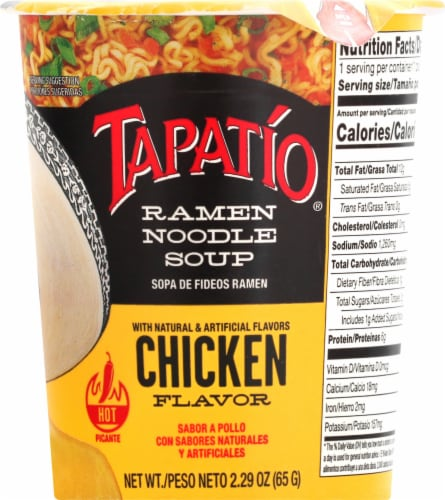 Tapatio Ramen Chicken Soup Cup Perspective: front