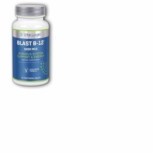 Vita Logic Blast B-12 Nervous System Support & Energy Vegetarian Tablets Perspective: front
