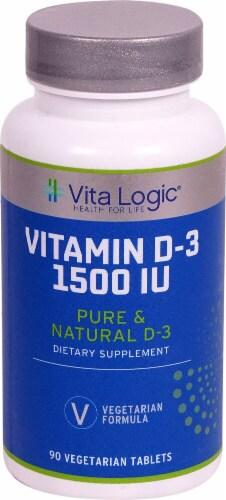 Vita Logic Vitamin D-3 Tablets 1500 IU Perspective: front