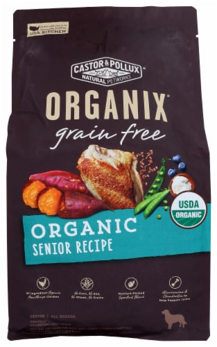 Castor and Pollux Organix Grain Free Senior Dry Organic Dog Food Perspective: front