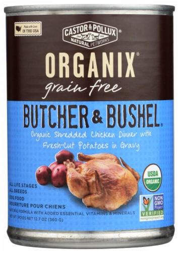 Castor & Pollux Organix Grain Free Butcher & Bushel Chicken & Potatoes Dog Food Perspective: front