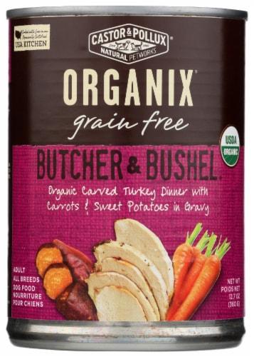 Castor & Pollux Organix Butcher & Bushel Turkey & Vegetables Dog Food Perspective: front