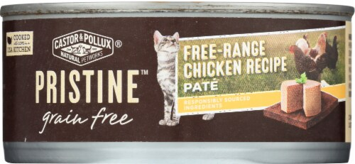 Castor & Pollux Pristine Free Range Chicken Recipe Pate Wet Cat Food Perspective: front