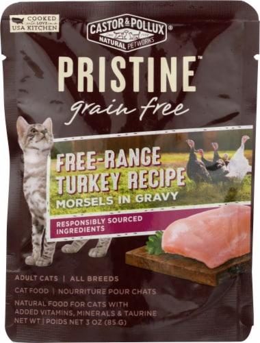 Castor & Pollux Pristine Free Range Turkey Recipe Wet Adult Cat Food Perspective: front