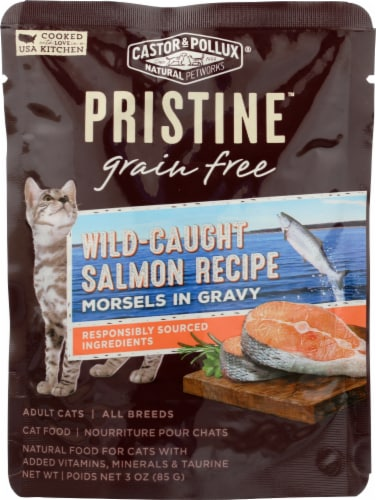 Castor & Pollux Pristine Wild Caught Salmon Recipe Wet Adult Cat Food Perspective: front