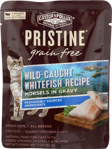 Castor & Pollux Pristine Wild Caught Whitefish Recipe Wet Adult Cat Food Perspective: front